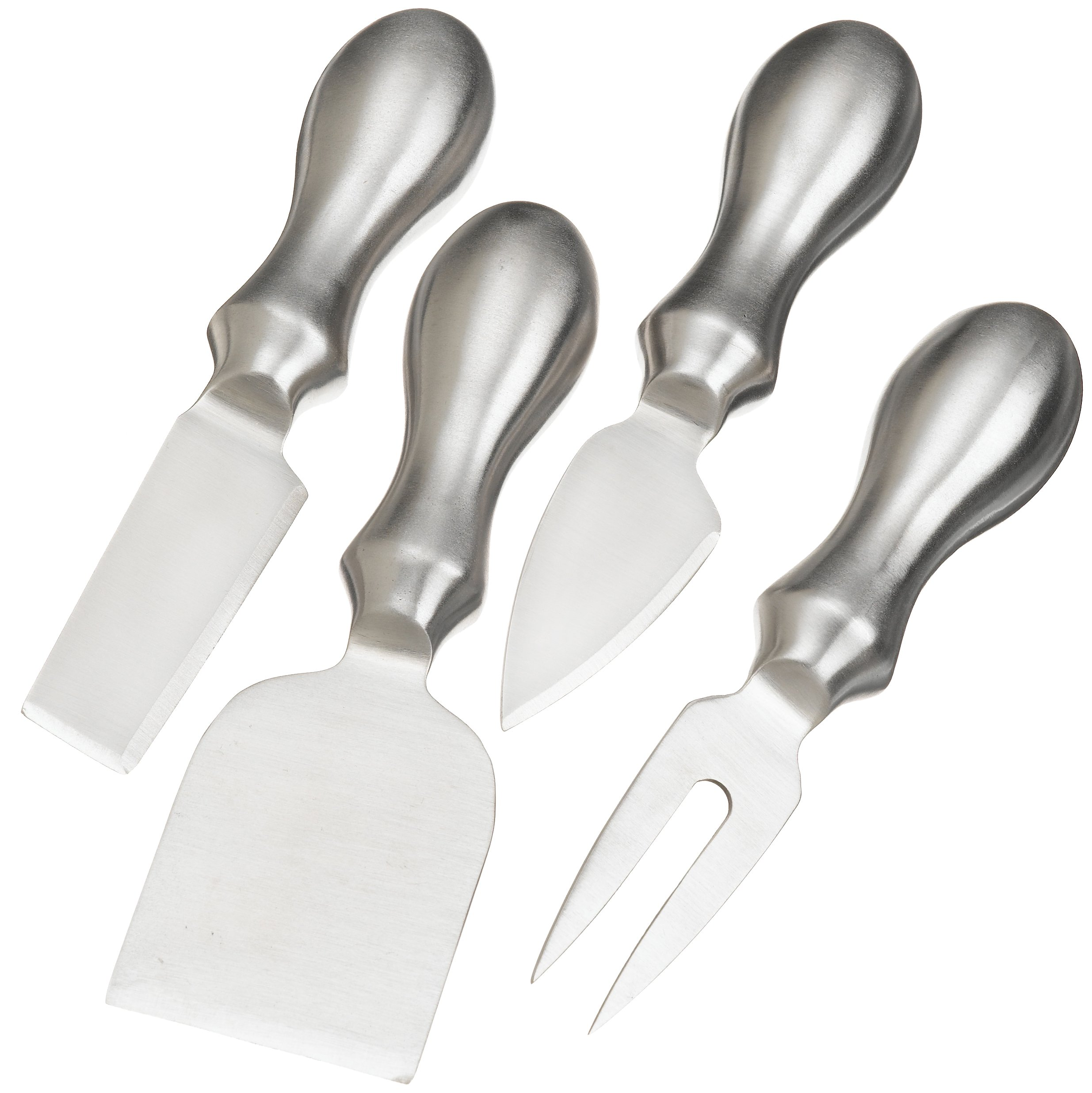 Prodyne K-4-S Stainless Steel Cheese Knives, Set of 4