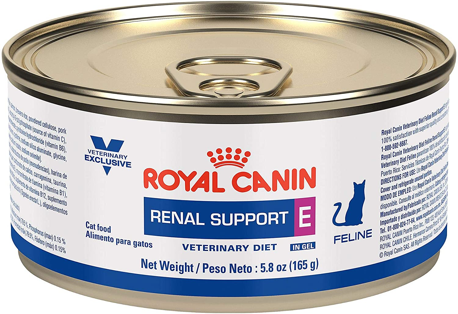 Royal Canin Veterinary Diet Feline Renal Support E Loaf In Sauce Canned Cat Food, 5.8 oz