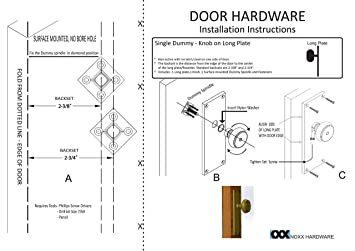 Knoxx Hardware Colonial Plate with Calvert Crystal Knob