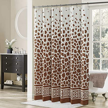 DS BATH Giraffe Shower CurtainTan Fabric CurtainVintage Curtains For Bathroom