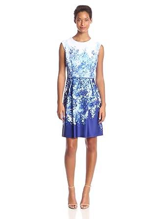 1d9a43dfcd Sandra Darren Women s Floral Print Cap Sleeve Dress