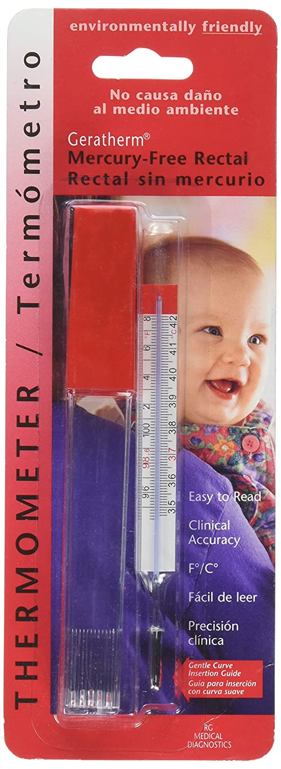 Geratherm Mercury Free Rectal Thermometer for Temperature Measurement Everready First Aid 614801200509