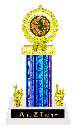 amazon com halloween trophy 11 1 2 best costume awards witch