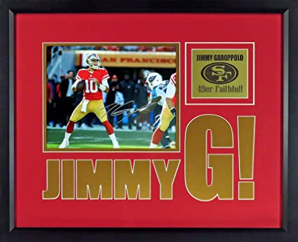 "35c25bd5d SF 49ers Jimmy Garoppolo Autographed ""Jimmy G!"" 8x10 Photo Display (SGA  Impact"