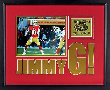 "e56f72ac1 SF 49ers Jimmy Garoppolo Autographed ""Jimmy G!"" 8x10 Photo Display (SGA  Impact"