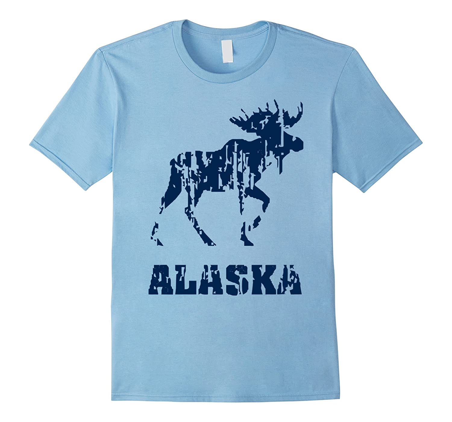 Alaska State T-shirt The Last Frontier Alaska Home Shirt-PL