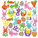 Baker Ross Bunny Foam Stickers (Pack of 120) Embellishments for Easter Arts and Crafts Activities