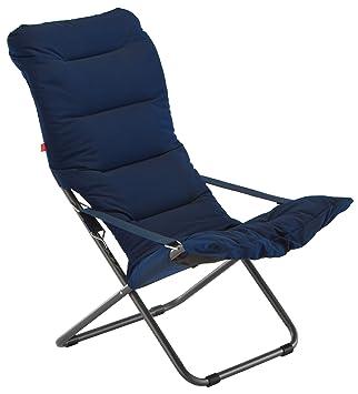 fiam 027s bl fauteuil relax de jardin aluminium bleu 61 x 97 x 94 cm - Relax De Jardin