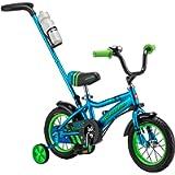 Schwinn Grit and Petunia Steerable Kids Bike, Boys and Girls Beginner Bicycle, 12-Inch Wheels, Training Wheels, Easily…