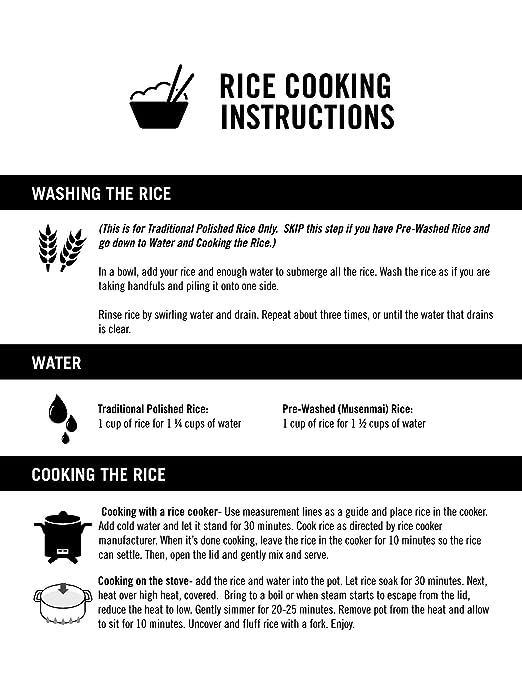 Amazon Nanatsuboshi Authentic Japanese White Rice Pre Washed