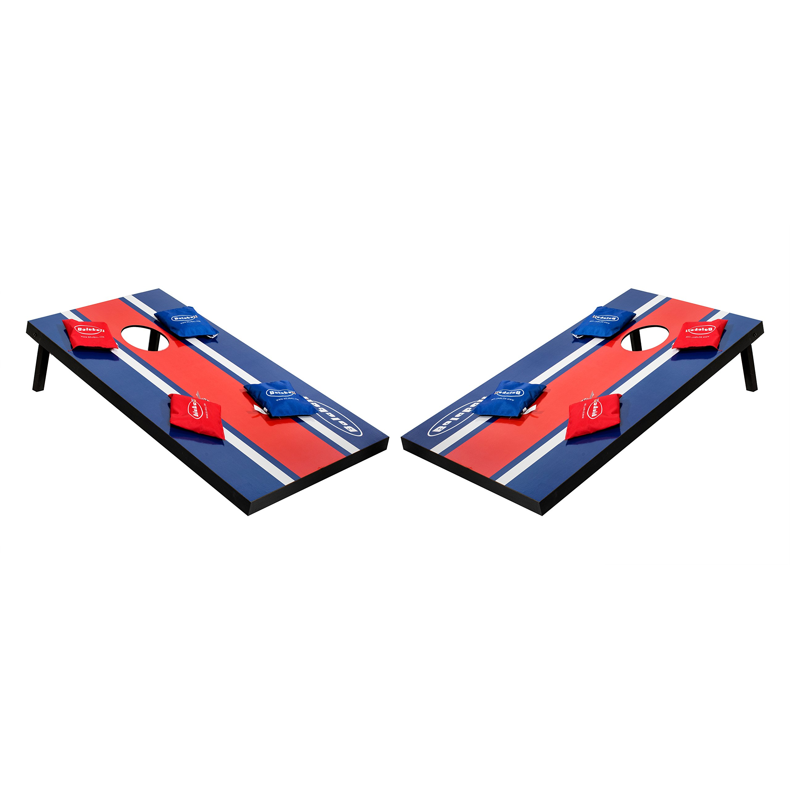 Bolaball Bean Bag Toss, Cornhole Game Set, 8 Bean Bags, Portable Handles, Perfect Parties, Camping, Tailgating, 3ft x 2ft by Bolaball