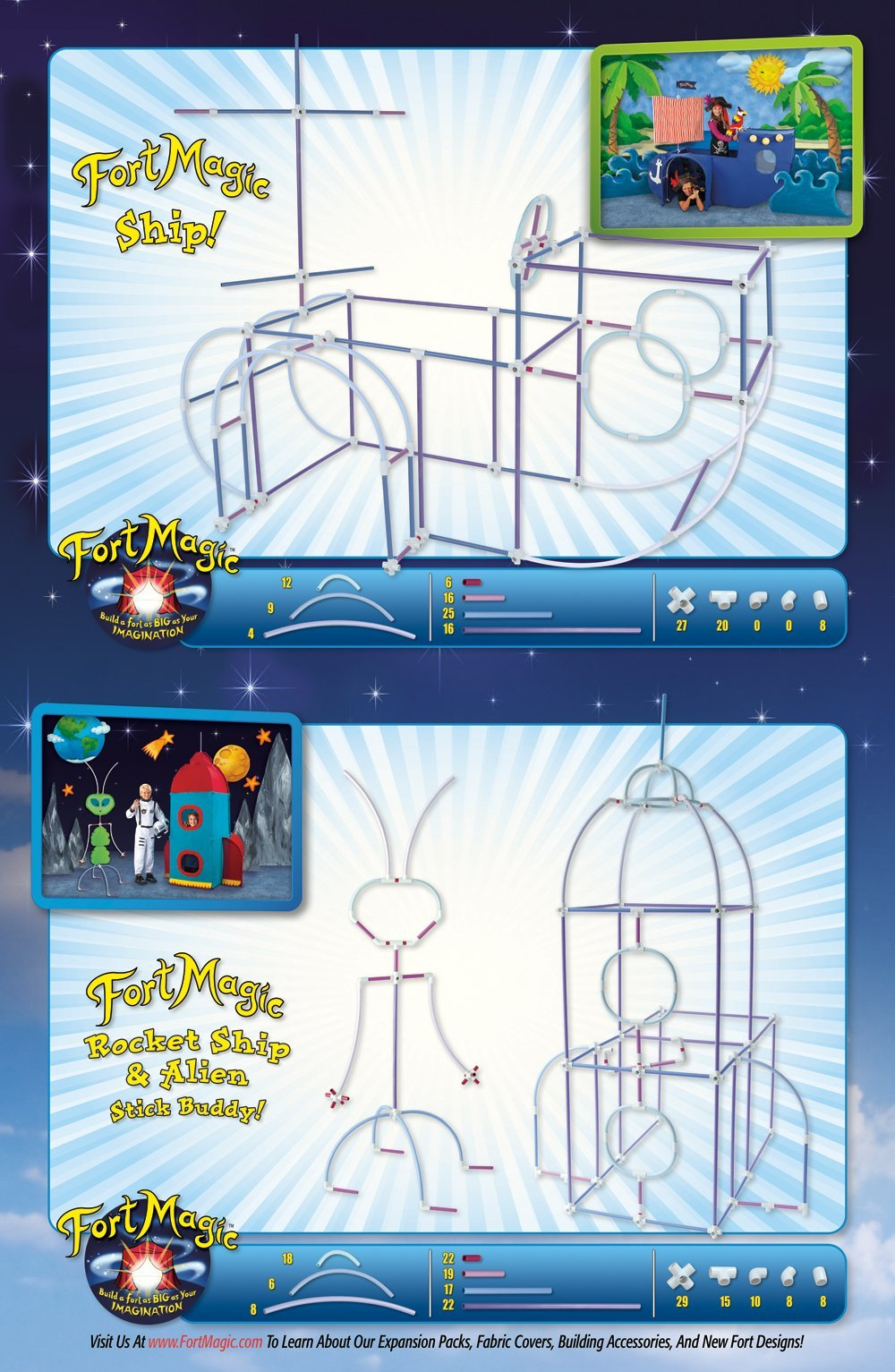 Fort Magic: Fort Building & Construction Toy Kit by Fort Magic (Image #7)