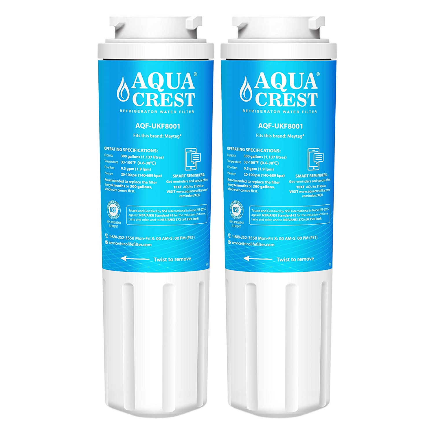 1dcdfbb8115 Amazon.com  AQUACREST Replacement UKF8001 Refrigerator Water Filter ...