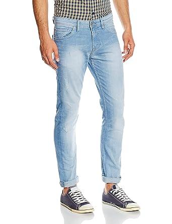 Tom Tailor Denim Men s Piers Super Slim Aqua Denim Jeans, Blue-Blau  (Bleached e35caabb30
