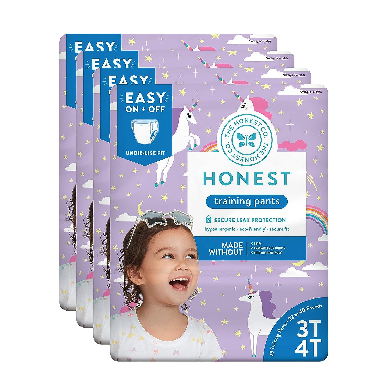 The Honest Company Toddler Training Pants, Unicorns, 3T/4T, 92 Count The Honest Company HPC