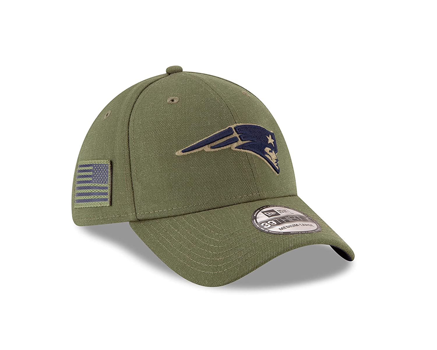 New Era New England Patriots 39thirty Stretch Cap on Field 2018 Salute to Service