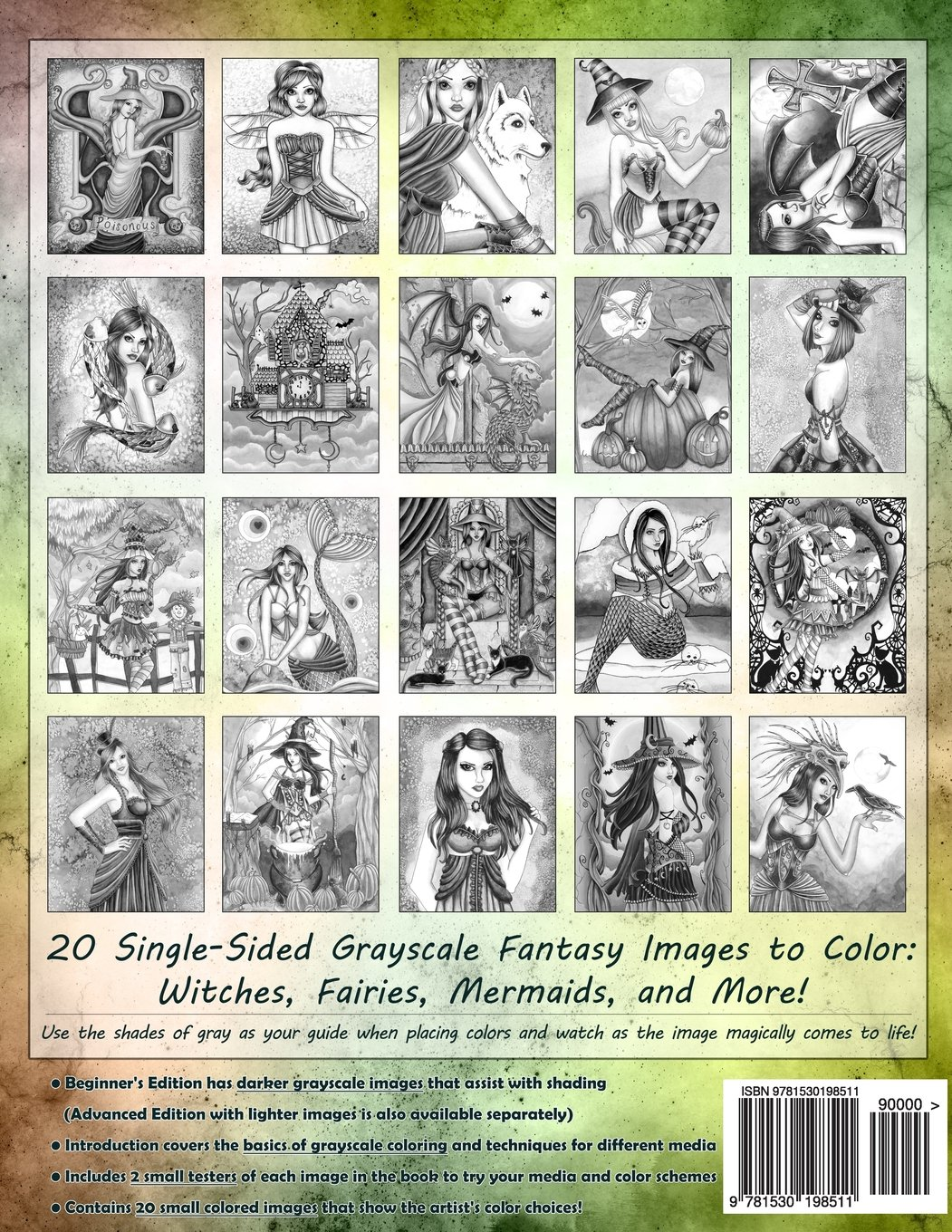 Spellbinding Images A Grayscale Fantasy Coloring Book Beginner S