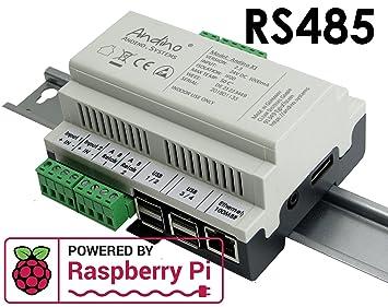 Raspberry Pi 3 Carcasa en carril + RS485/RS422. El pequeño ...
