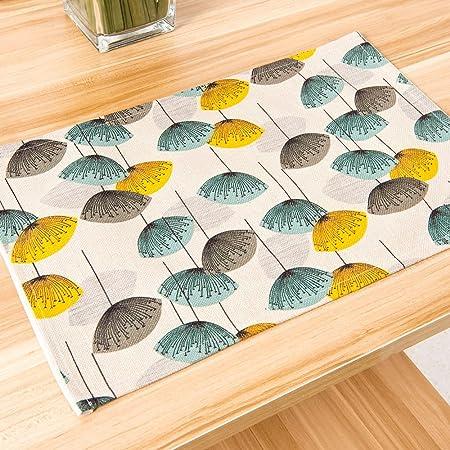 Cotton Linen Placemats Heat Resistant Placemats Washable Table