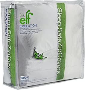 "Eco Living Friendly Evolon Allergy Mattress Protector | 9"" Full Zippered Mattress Encasement 