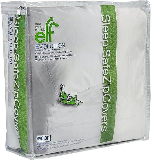 "King 9/"" Sleep Safe EVOLON Dust Mite Bed Bug Allergy Mattress Encasement Cover"