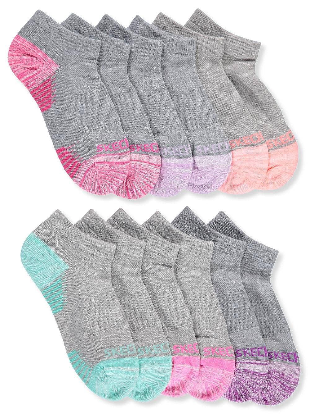 Skechers Girls' 6-Pack Low Cut Socks