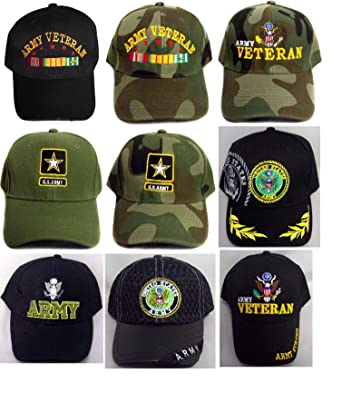 US Army Military Baseball Caps Hats 12 Pc Assorted Styles ... 6802d0fc4eb4