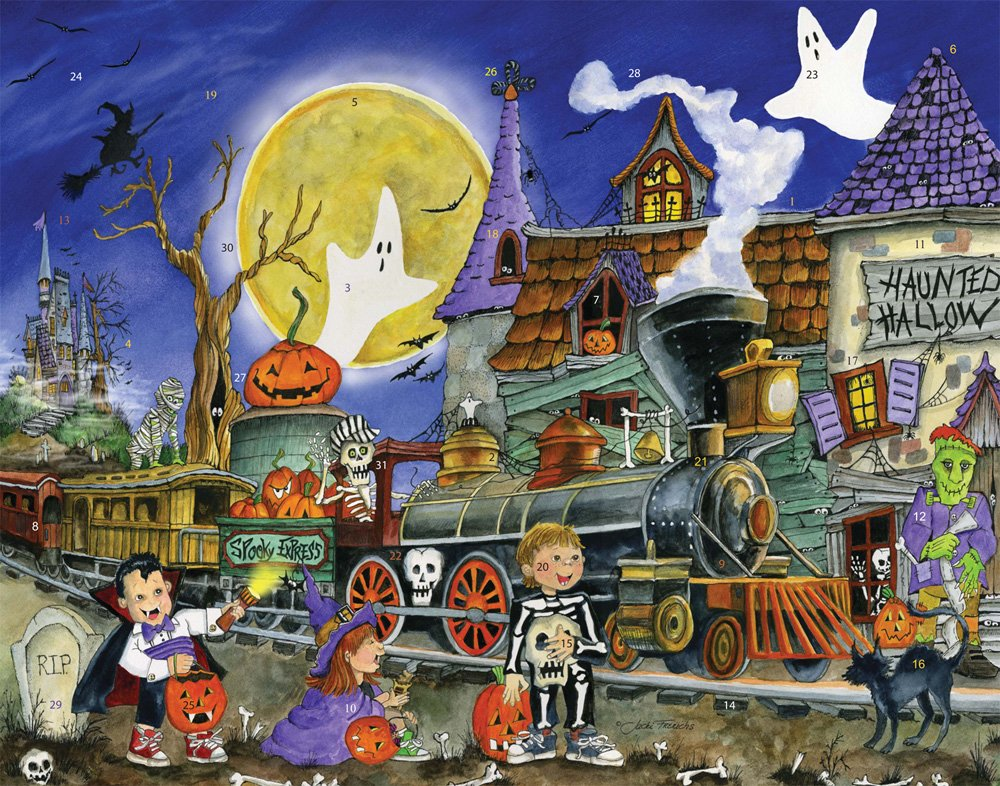 Vermont Christmas Company Spooky Express Countdown to Halloween Calendar