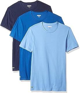 47c5a76d3 Lacoste Men s Cotton Crew-Neck T-Shirt Undershirt (3-Pack)