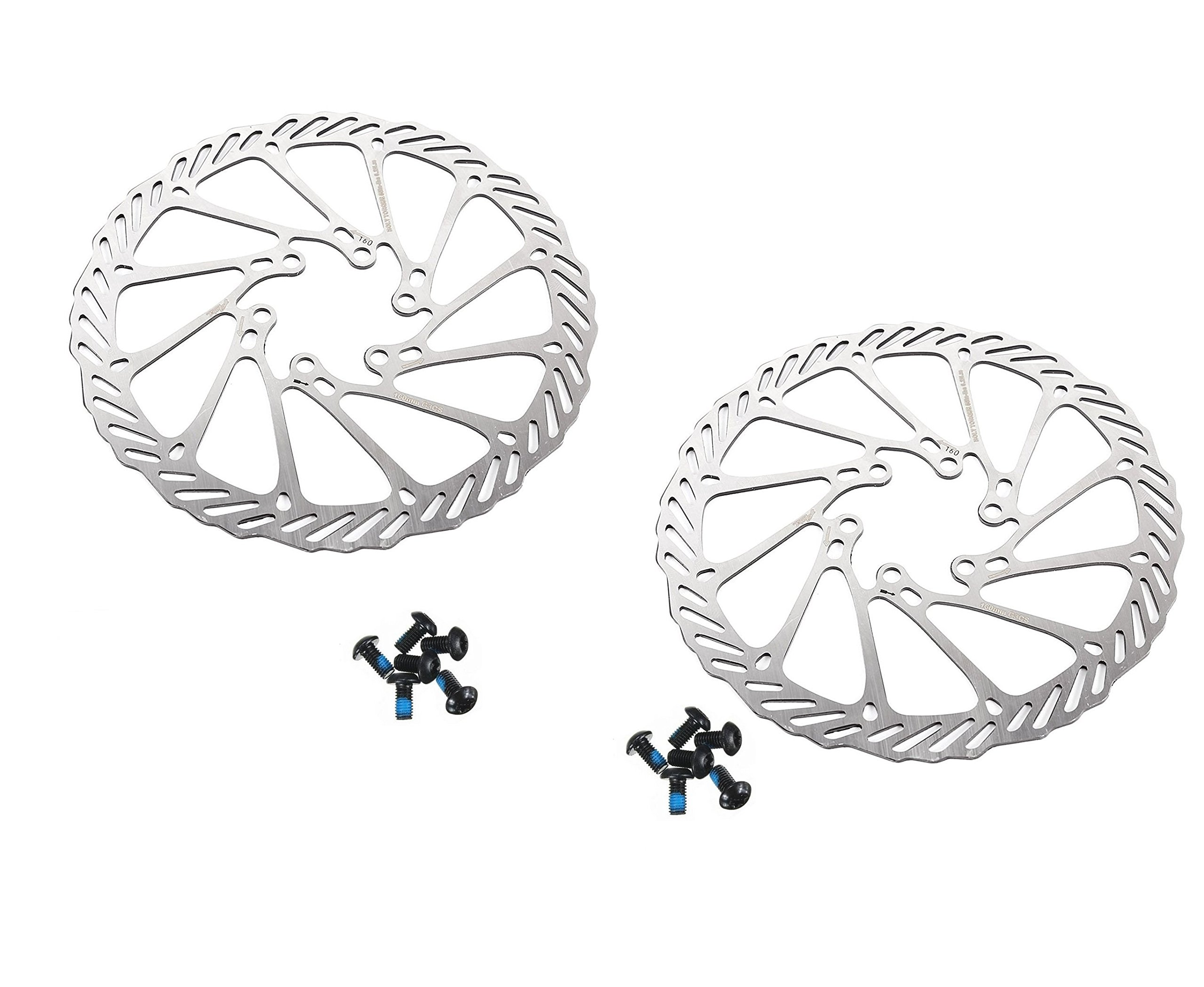 BlueSunshine MTB BB8 Mechanical Disc Brake Front and Rear 160mm whit Bolts and Cable by BlueSunshine