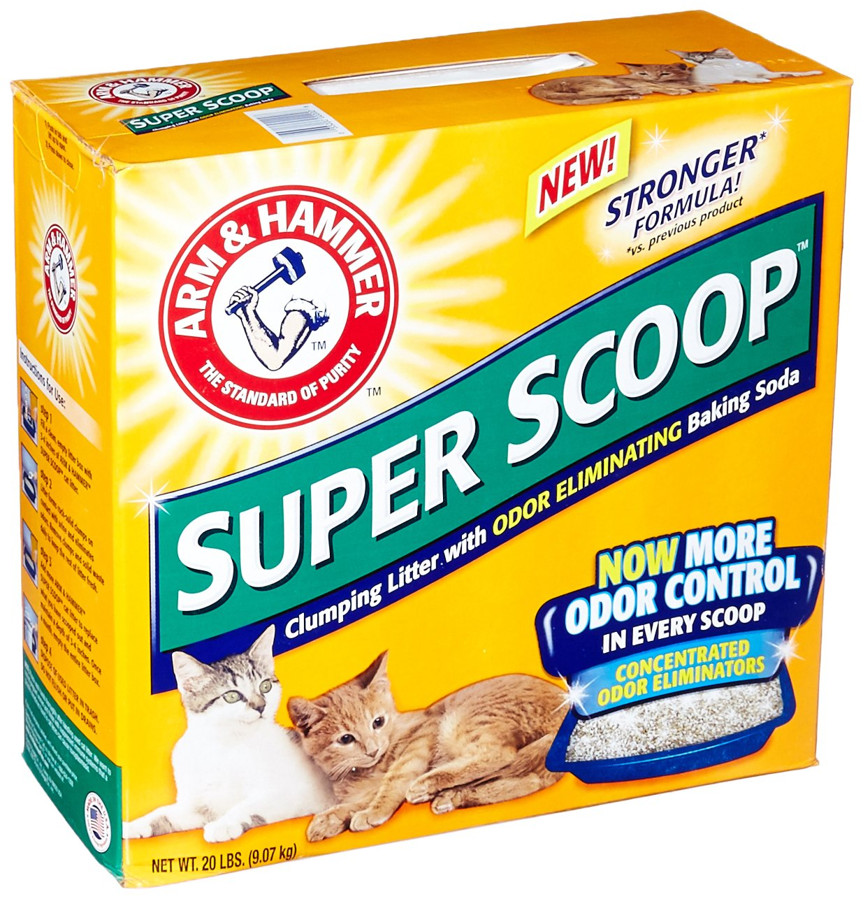 ARM & HAMMER CAT LITTER 718502 2-Pack Superscoop Clump Scented Litter for Pets, 20-Pound