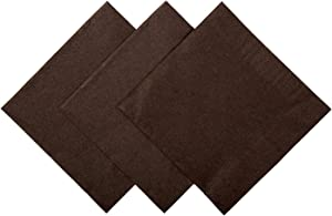 Royal Chocolate Brown Beverage Napkin, Package of 200