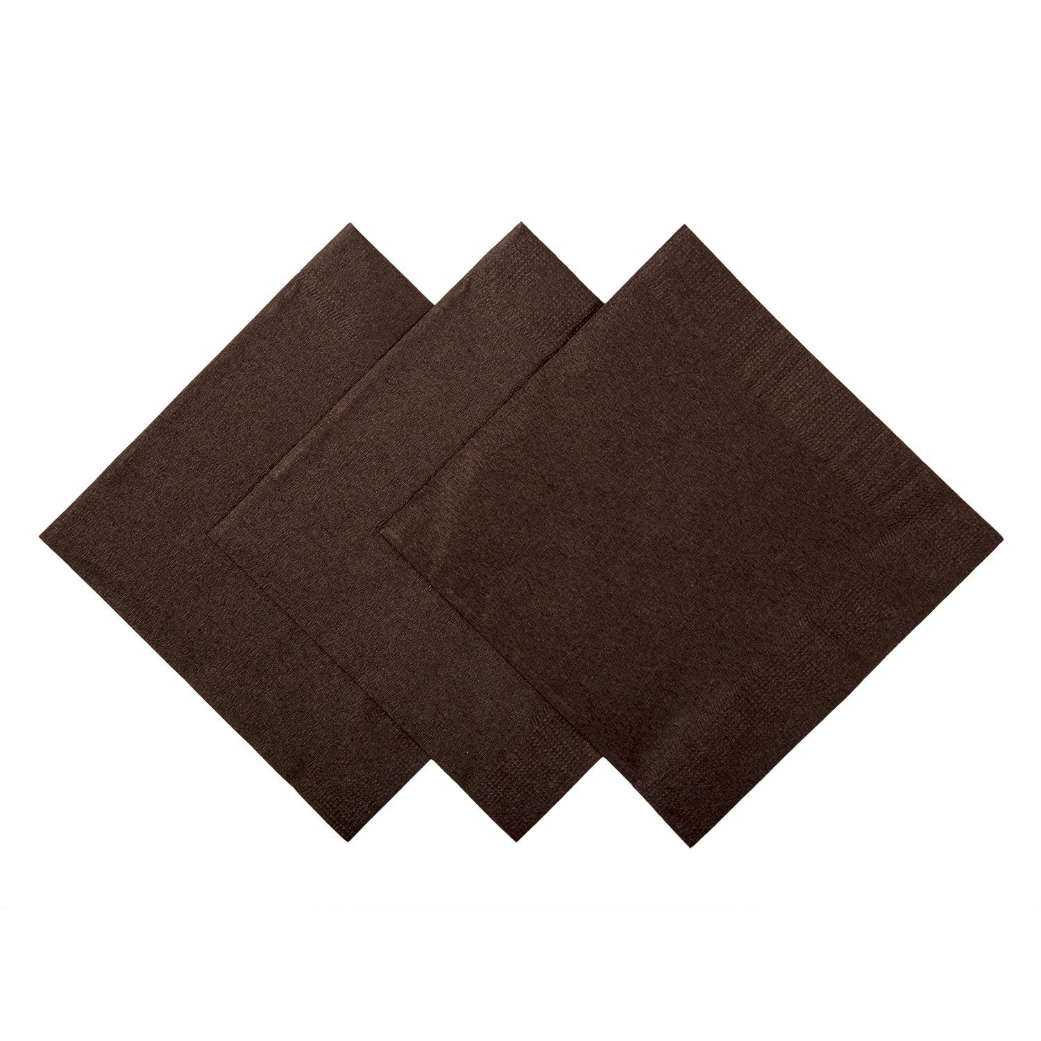 Royal Chocolate Brown Beverage Napkins, Case of 1,000 by ROYAL