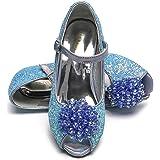 Tyidalin Niñas Zapatos de Cuero Lentejuelas para Baile Tacones Altos Disfraz de Princesa Cosplay Fiesta Carnaval Navidad EU25-36: Amazon.es: Zapatos y complementos
