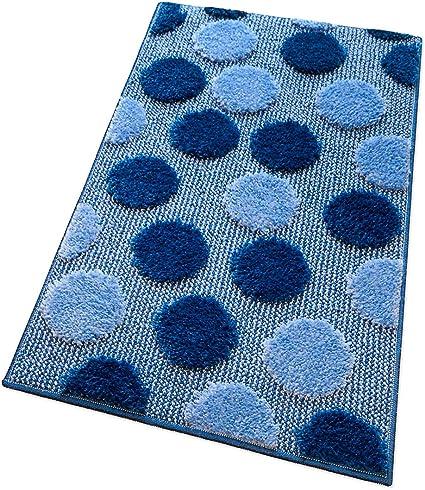 Blu Navy-Ciniglia, 45x65cm ARNTY Tappeto Bagno Blu Antiscivolo in Ciniglia,Lavabile in Lavatrice Tappetino da Bagno a Pelo Lungo Tappetini per Il Bagno per Vasca Doccia e Bagno