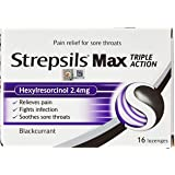 Strepsils Lozenges for Sore Throats Blister Pack, Max, 16ct