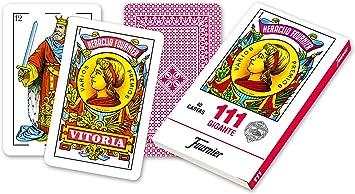 Fournier- Nº 111 Baraja Grande de 40 Cartas Gigantes, Color Rojo (F21597): Amazon.es: Juguetes y juegos