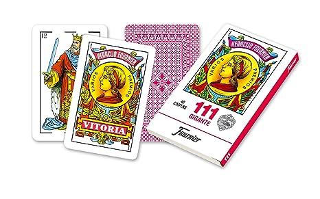 Fournier Nº 111 Gigante Cartas Espanolas Color Rojo F21597