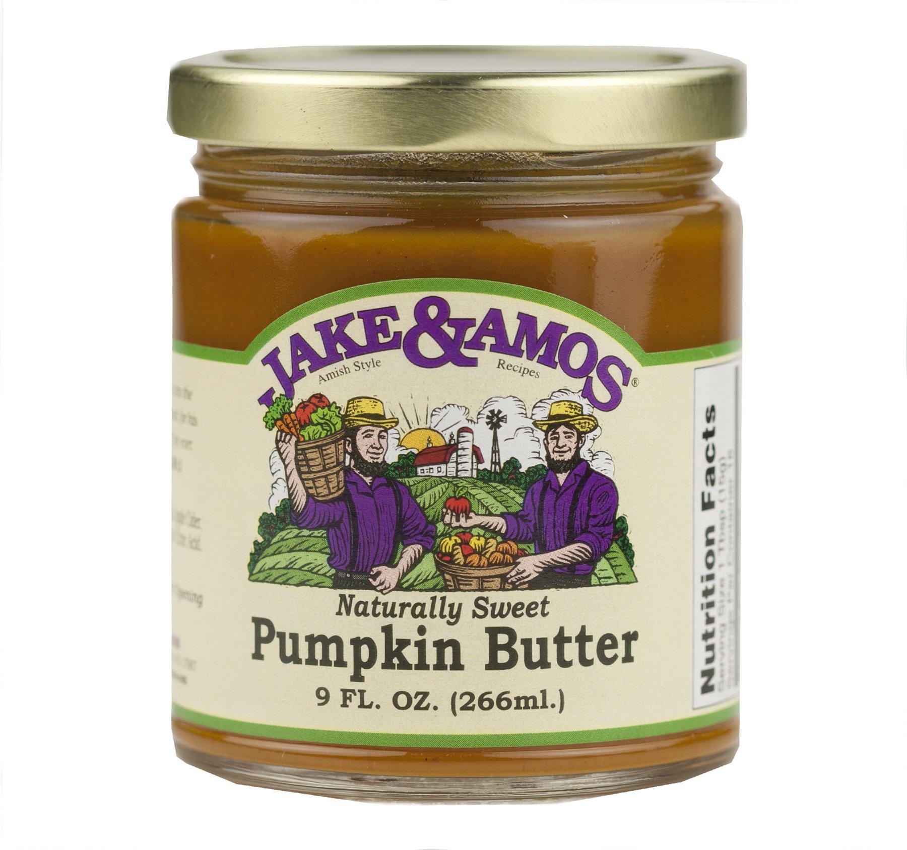 Jake & Amos Naturally Sweet Pumpkin Butter 9 oz. (2 Jars)