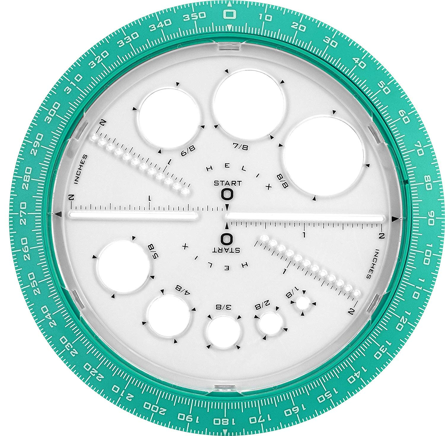 Helix 360° Angle and Circle Maker, Assorted Colors, 5 Pack by Maped Helix USA (Image #1)