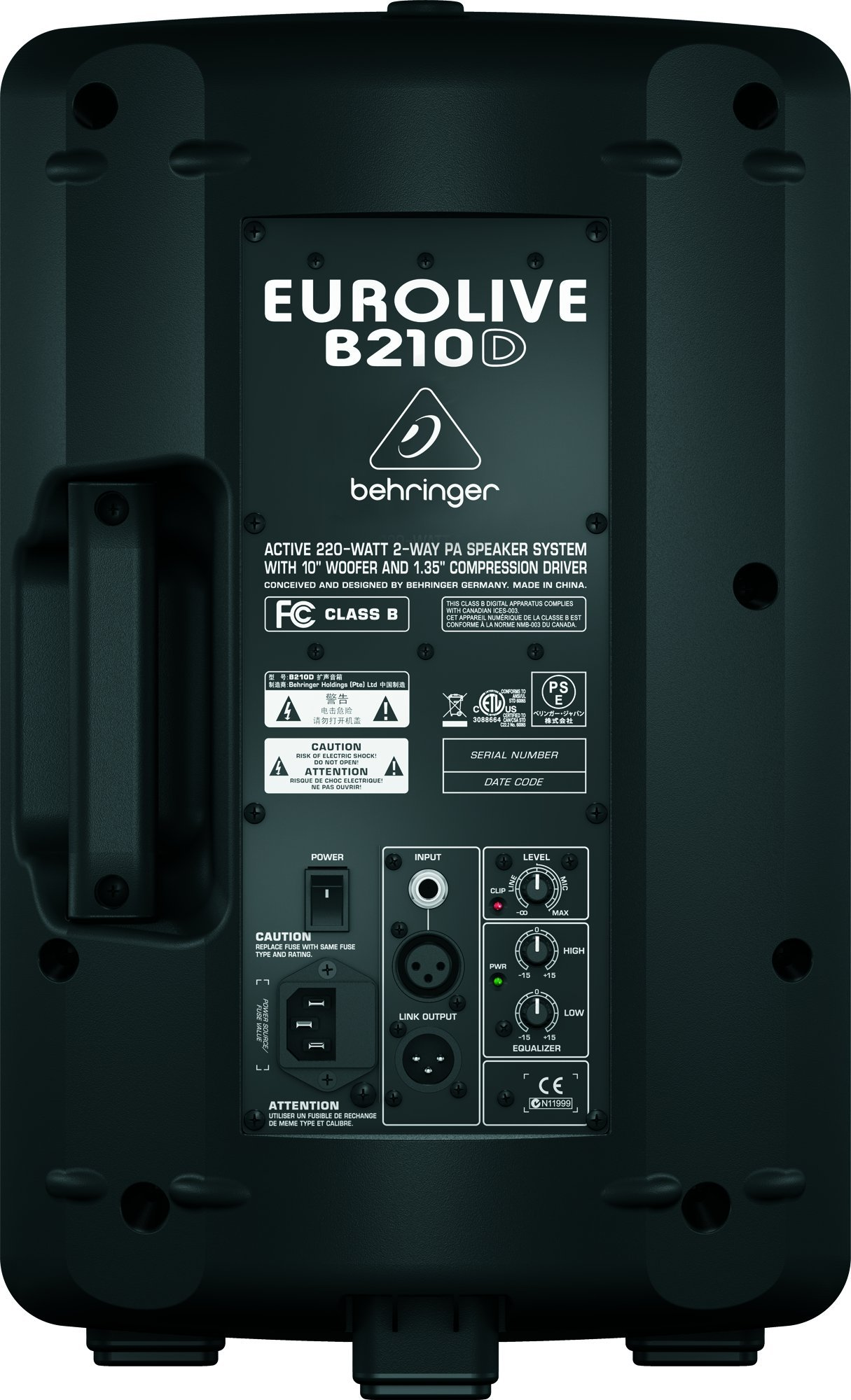 Behringer Eurolive B210D Active 200-Watt 2-Way PA Speaker System by Behringer (Image #7)