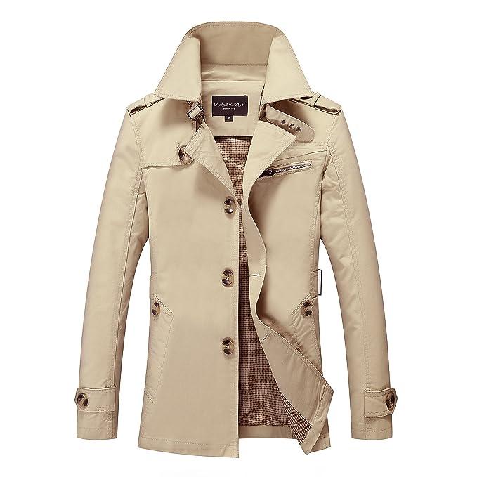 THWS Hombres chaqueta de abrigo San Sau por mayor T-shirt, caqui, l/170cm ropa: Amazon.es: Ropa y accesorios