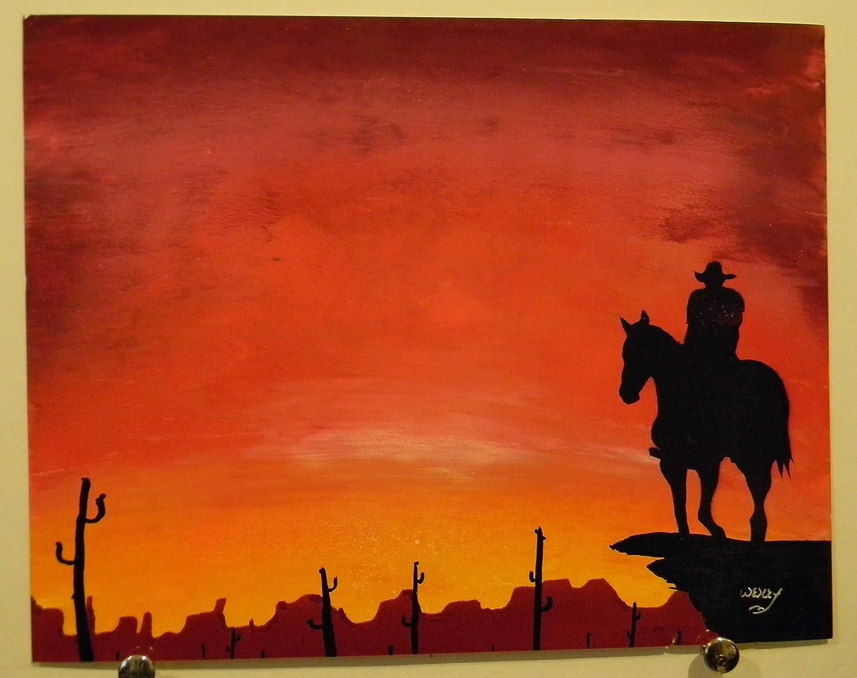 Spray Paint Sunset Art