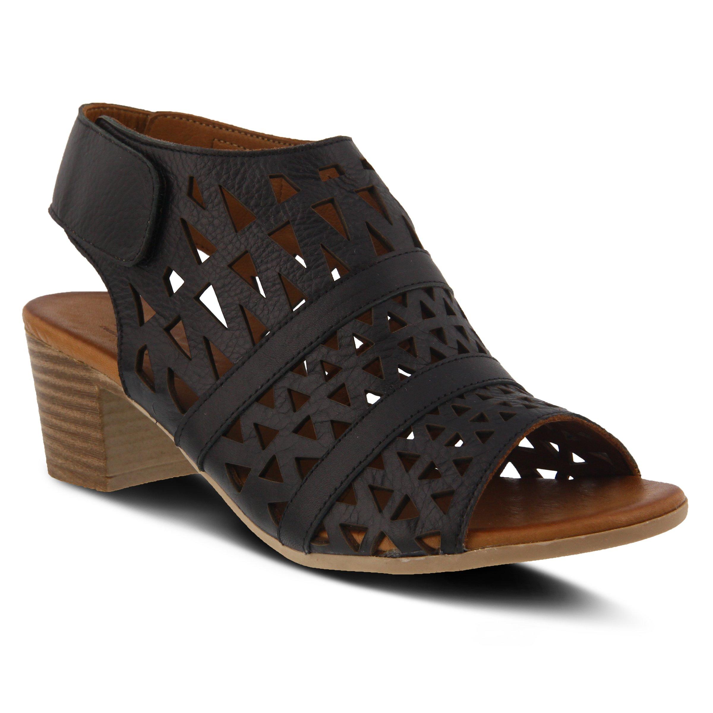 Spring Step Women's Style Dorotha Black EURO Size 41 Leather Sandal
