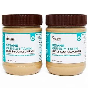 Soom Foods Pure Ground Sesame Tahini 11oz (2 Pack)