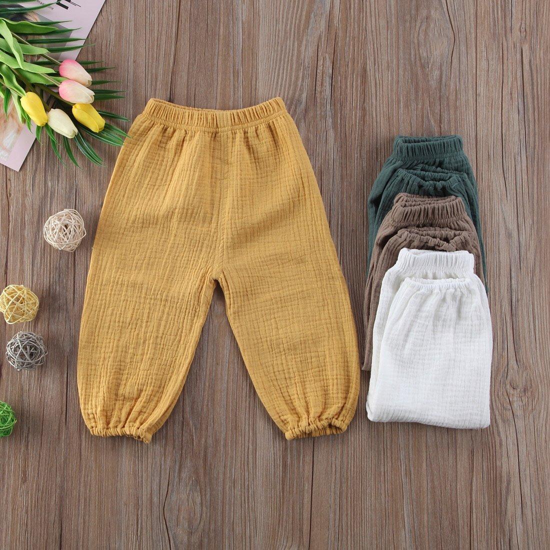 BULINGNA Cute Toddler Kids Baby Boy Girl Casual Eelastic Harem Long Pants Bloomers