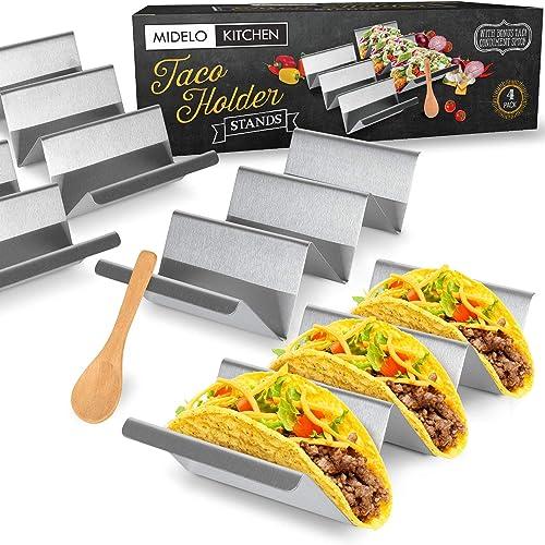 Uchwyty Midelo 4 Pack Heavy Duty Taco Uchwyty W/Handles