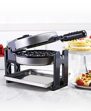 Amazing Sensio 13124 Bella Cucina Belgian Waffle Maker With Drip Tray