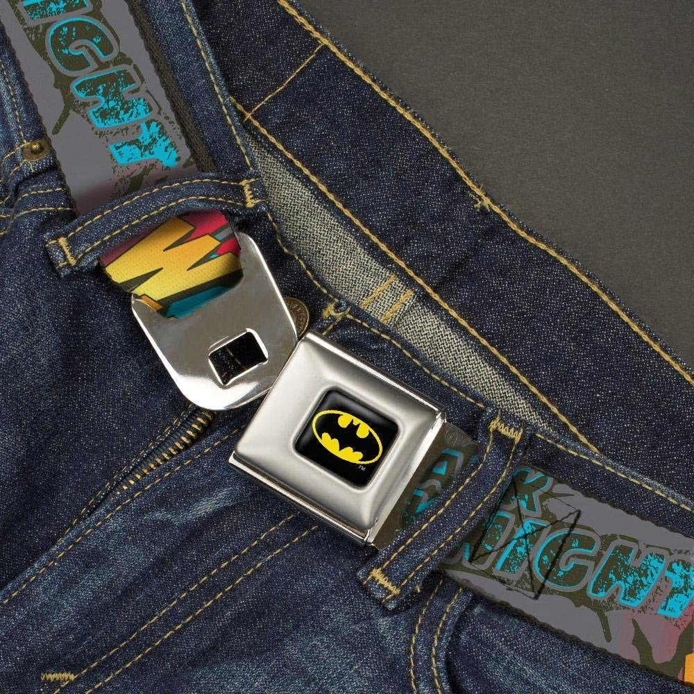 20-36 Inches in Length 1.0 Wide Batman Dark Knight Buckle-Down Seatbelt Belt