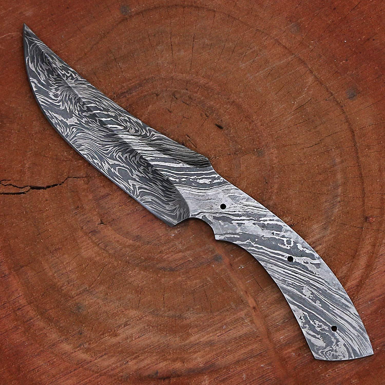 Amazon.com: VK2180 - Cuchillo de caza de acero de Damasco ...